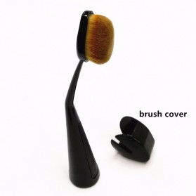 Kuas Make Up Oval Brush Powder Concealer Foundation - Black