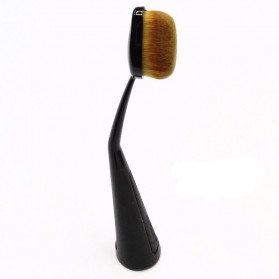 Kuas Make Up Oval Brush Powder Concealer Foundation - Black - 2