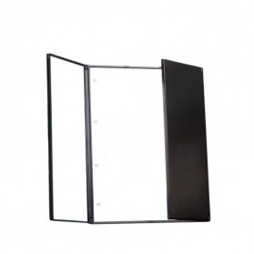 Blue ZOO Cermin Makeup Portable Foldable Mirror + LED Light - MR02480 - Black