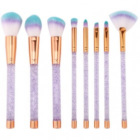 Crystal Brush Make Up 8 Set - White