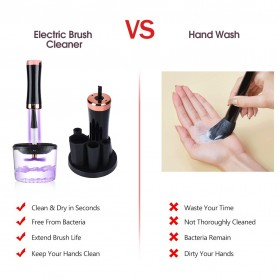 Pembersih Kuas Makeup UV Electric Brush Spin Cleaner Washing Tool - IF00232 - Black - 7