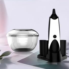 Pembersih Kuas Makeup Electric Charging Brush Spin Cleaner Washing Tool - Black White
