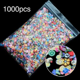 OLOEY Hiasan Kuku Nail Art Tips Filler Slime Fruit 1000pcs - WJ079A-C - Multi-Color