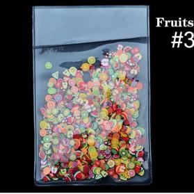 OLOEY Hiasan Kuku Nail Art Tips Filler Slime Fruit 1000pcs - WJ079A-C - Multi-Color - 4