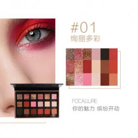 Focallure Eye Shadow Palette 18 Shades - No.1