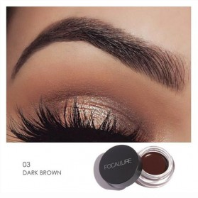 Focallure Eyebrow Cream Kosmetik Alis Mata Quick Drying Waterproof - 03 - Dark Brown