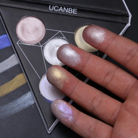 UCANBE Glitter Eye Shadow Palette Holographic - CD-01 - 10
