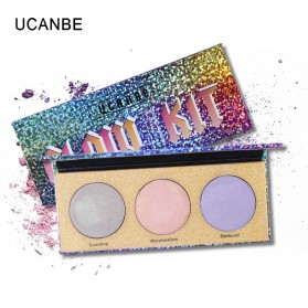 UCANBE Glow Kit Glitter Eye Shadow 3 Warna