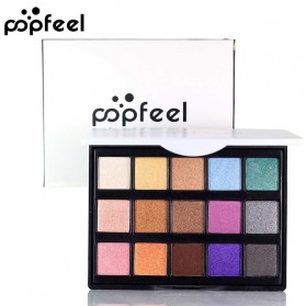 POPFEEL Make Up Eye Shadow Matte 15 Warna Waterproof - No 2 - Multi-Color