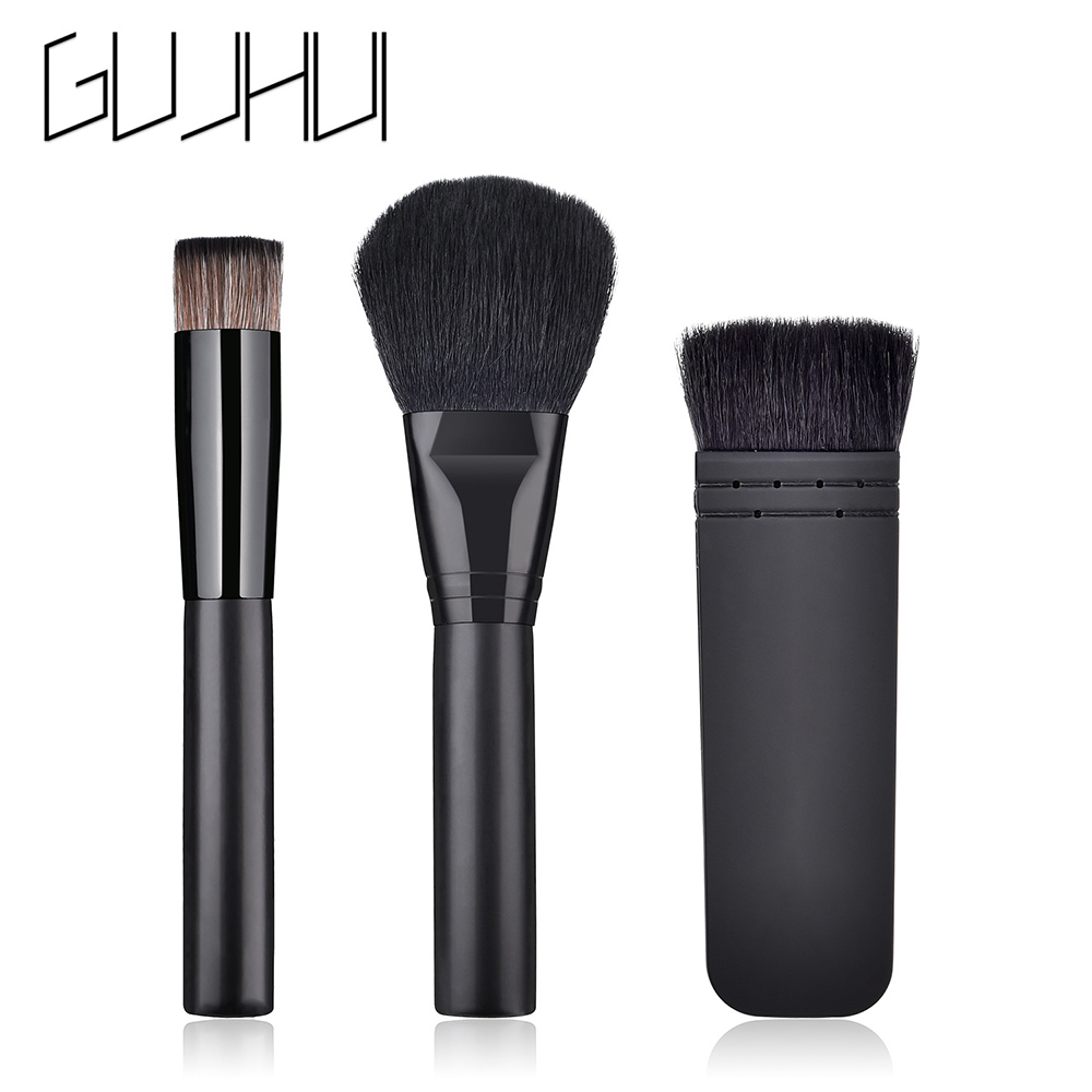 Gujhui brush make up 3 set black 1