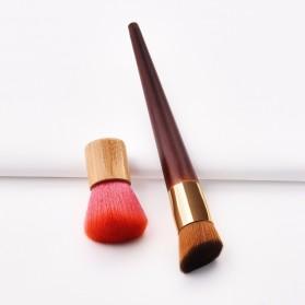 GUJHUI Brush Make Up 2 PCS - Red - 2