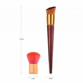 GUJHUI Brush Make Up 2 PCS - Red - 3