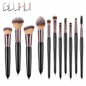 GUJHUI Set Kuas Make Up 11 PCS - PVC-11 - Black