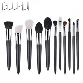 GUJHUI Set Kuas Aplikator Make Up 11 PCS - PVC-11 - Black