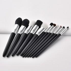 GUJHUI Set Kuas Aplikator Make Up 11 PCS - PVC-11 - Black - 5