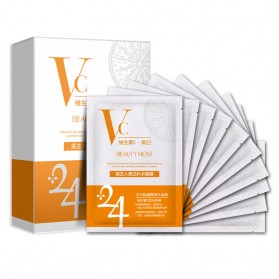 BEAUTY HOST Masker Wajah Vitamin C Extract 25g 10 PCS - Orange