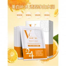 BEAUTY HOST Masker Wajah Vitamin C Extract 25g 10 PCS - Orange - 2