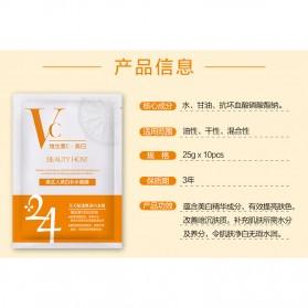 BEAUTY HOST Masker Wajah Vitamin C Extract 25g 10 PCS - Orange - 5