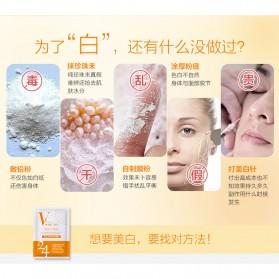 BEAUTY HOST Masker Wajah Vitamin C Extract 25g 10 PCS - Orange - 6