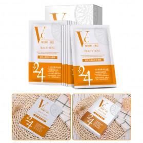 BEAUTY HOST Masker Wajah Vitamin C Extract 25g 10 PCS - Orange - 10