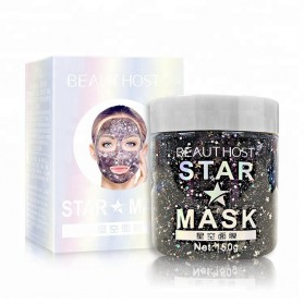 BEAUTY HOST Krim Masker Wajah Peeling Shining Star 150g - Black