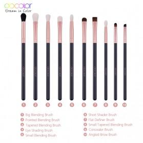 Docolor Brush Make Up 10 Set - DC1002 - Black - 3