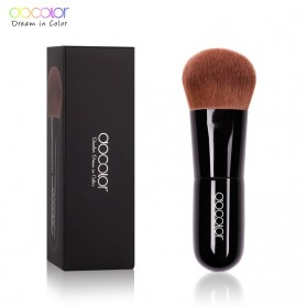 Docolor Kabuki Foundation Profesional Make Up Brush Rainbow - DA002 - Black