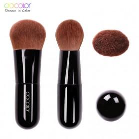 Docolor Kabuki Foundation Profesional Make Up Brush Rainbow - DA002 - Black - 2