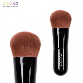 Docolor Kabuki Foundation Profesional Make Up Brush Rainbow - DA002 - Black - 8