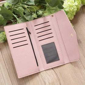 Dompet Kulit Clutch Wanita - 104C - Pink - 5