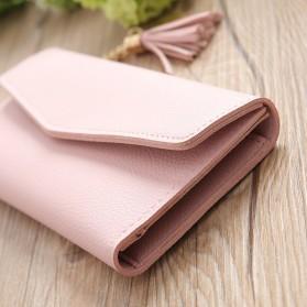 Dompet Kulit Clutch Wanita - 104C - Pink - 6
