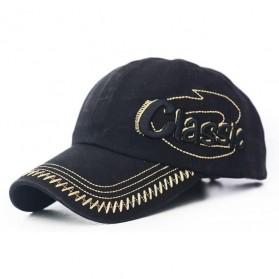 Tunica Topi Baseball Snapback Kasual Classic Big Logo - ZYQ02 - Black