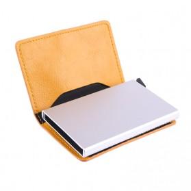 Kartu Anti RFID Bahan Kulit dengan Holder Aluminium - KB-005 - Black - 2