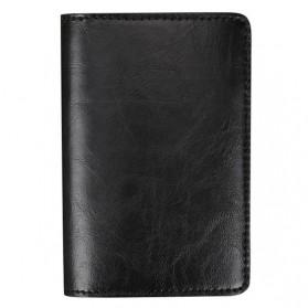 Kartu Anti RFID Bahan Kulit dengan Holder Aluminium - KB-005 - Black - 3