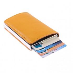 Kartu Anti RFID Bahan Kulit dengan Holder Aluminium - KB-005 - Black - 10
