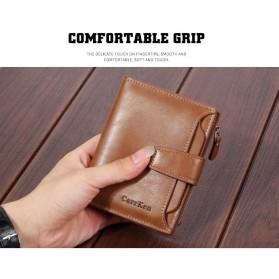 Carrken Dompet Kasual Pria Soft Leather - 13842 - Dark Brown - 2