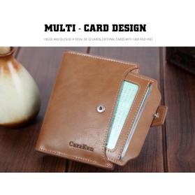 Carrken Dompet Kasual Pria Soft Leather - 13842 - Dark Brown - 4