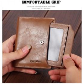 Carrken Dompet Kasual Pria Soft Leather - 13842 - Dark Brown - 5