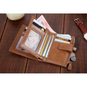 Carrken Dompet Kasual Pria Soft Leather - 13842 - Dark Brown - 7