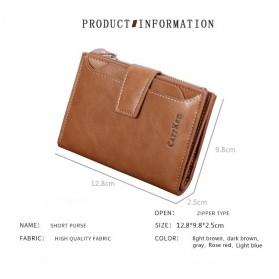 Carrken Dompet Kasual Pria Soft Leather - 13842 - Dark Brown - 8