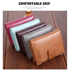 Carrken Dompet Kasual Pria Soft Leather - 13842 - Dark Brown - 9