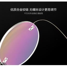 Frame Kacamata Bulat Frameless Titanium Ultra Light - 001 - Black - 5