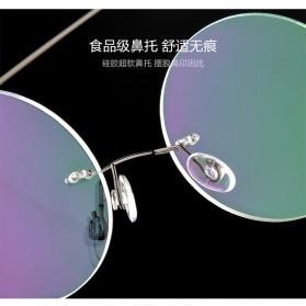 Frame Kacamata Bulat Frameless Titanium Ultra Light - 001 - Black - 6