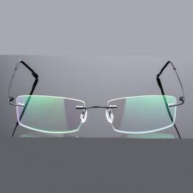 Frame Kacamata Frameless Titanium Ultra Light - 858 - Black