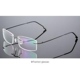Xinder Frame Kacamata Frameless Titanium Ultra Light - 858 - Black - 2