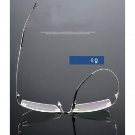 Xinder Frame Kacamata Frameless Titanium Ultra Light - 858 - Black - 3