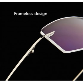 Xinder Frame Kacamata Frameless Titanium Ultra Light - 858 - Black - 5