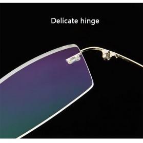 Xinder Frame Kacamata Frameless Titanium Ultra Light - 858 - Black - 6