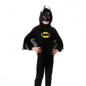 Kostum Cosplay Anak Karakter Batman - Size S - Black