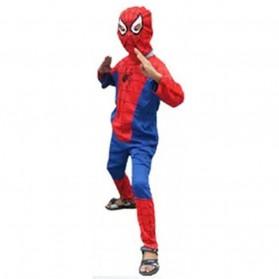 Kostum Cosplay Anak Karakter Spiderman - Size S - Red/Blue - 3